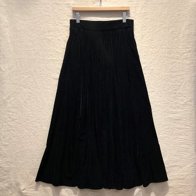 BEAMS BOY black long skirt