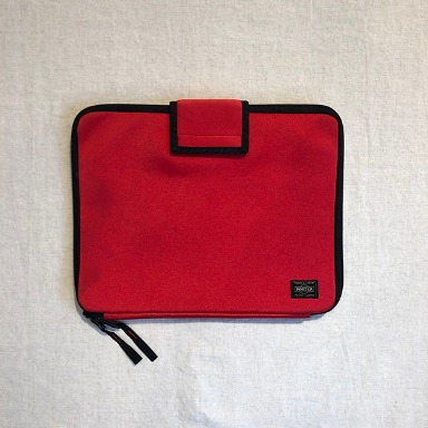 PORTER 2 way red pouch bag