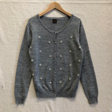 UNGRID beads knit cardigan
