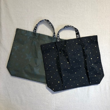 BEAMS star printing tote bag